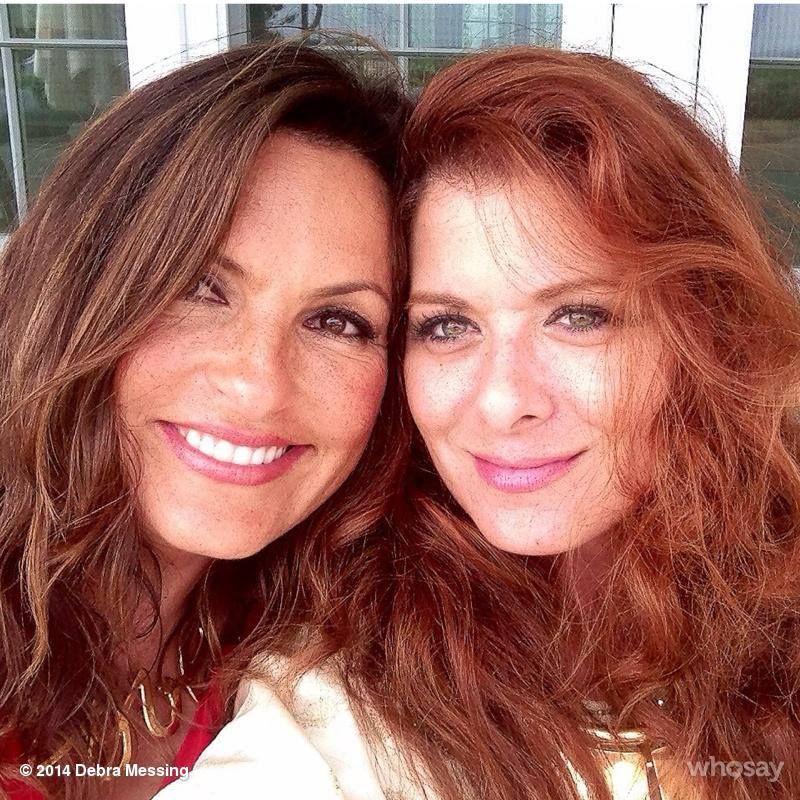Debra Messing An Old Pix From Summer 2013 Please Mariska Hargitay Debra Messing Friends In Love
