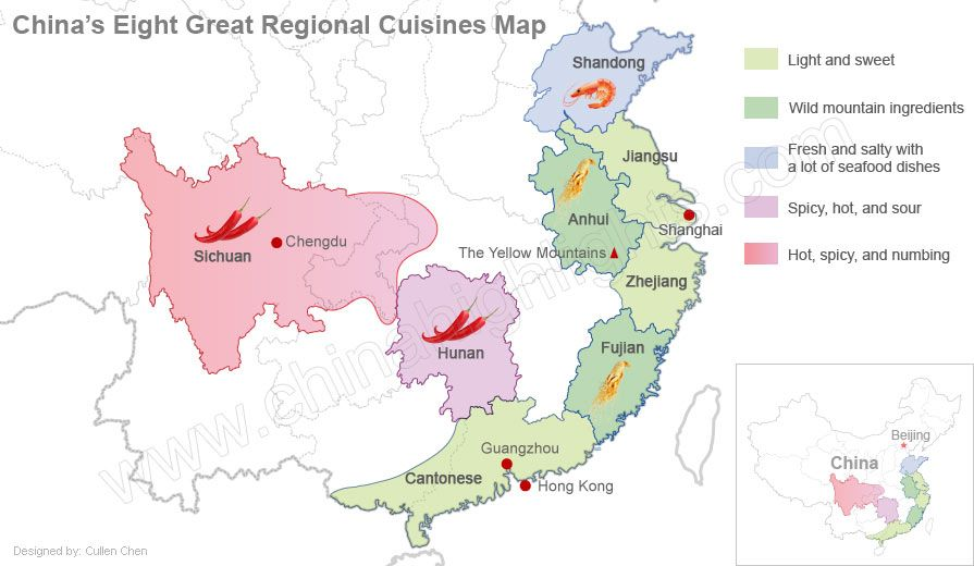 China S 8 Great Cuisines Best 8 Culinary Classics China Map China Cooking Chinese Food