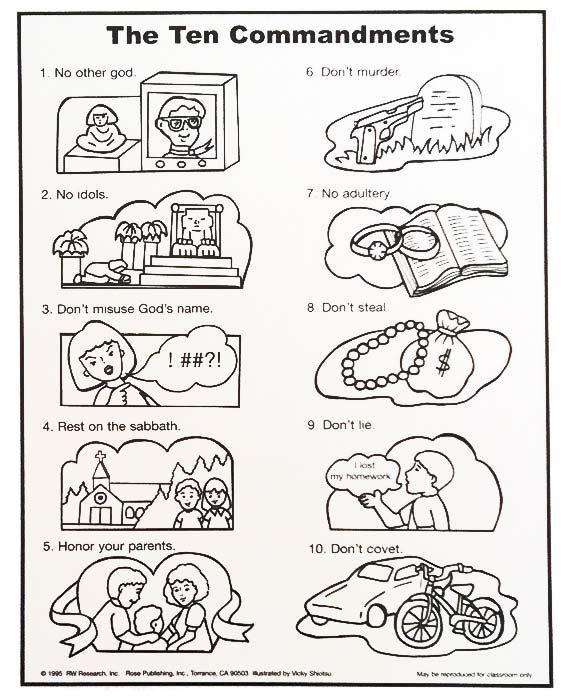 photograph regarding Free Printable Ten Commandments called Ideal 25 10 Commandments Craft Recommendations Upon Pinterest - Vehicle