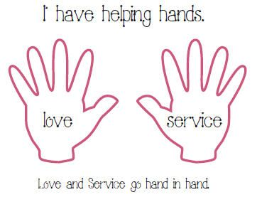 serve god Coloring Pages Love and Service Go Hand and Hand