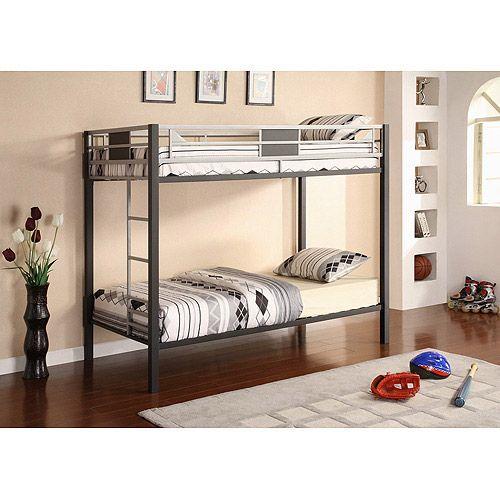 Twin Over Twin Bunk Bed Mattress Set Of 2 Furniture Walmart Com