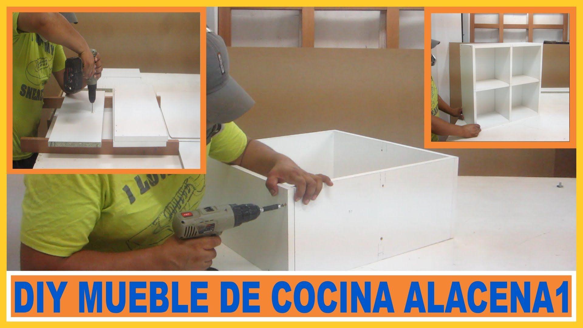 Como hacer muebles / módulo Alacena de cocina en melamina | PROYECTO ...