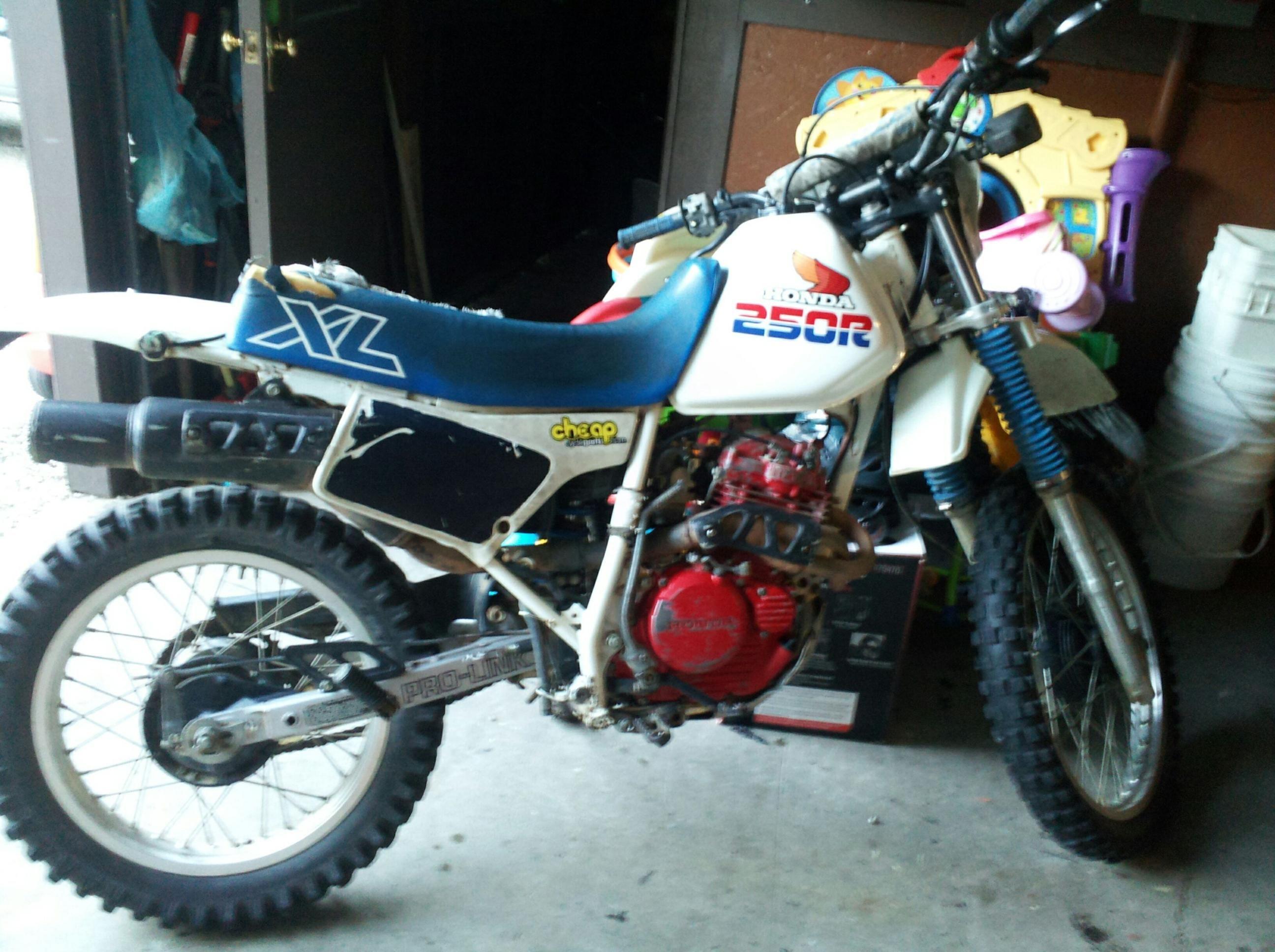 1986 Honda XL 250 R didn't ride this one so much. It was