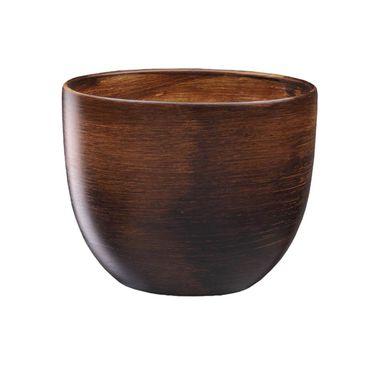 Doniczka Ceramiczna 19 Cm Brązowa Baryłka Eko Ceramika