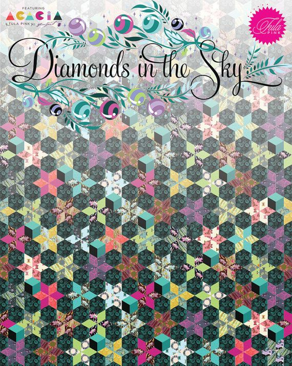 PRESALE - Diamonds in the Sky EPP Quilt Kit - Tula Pink - Acaica