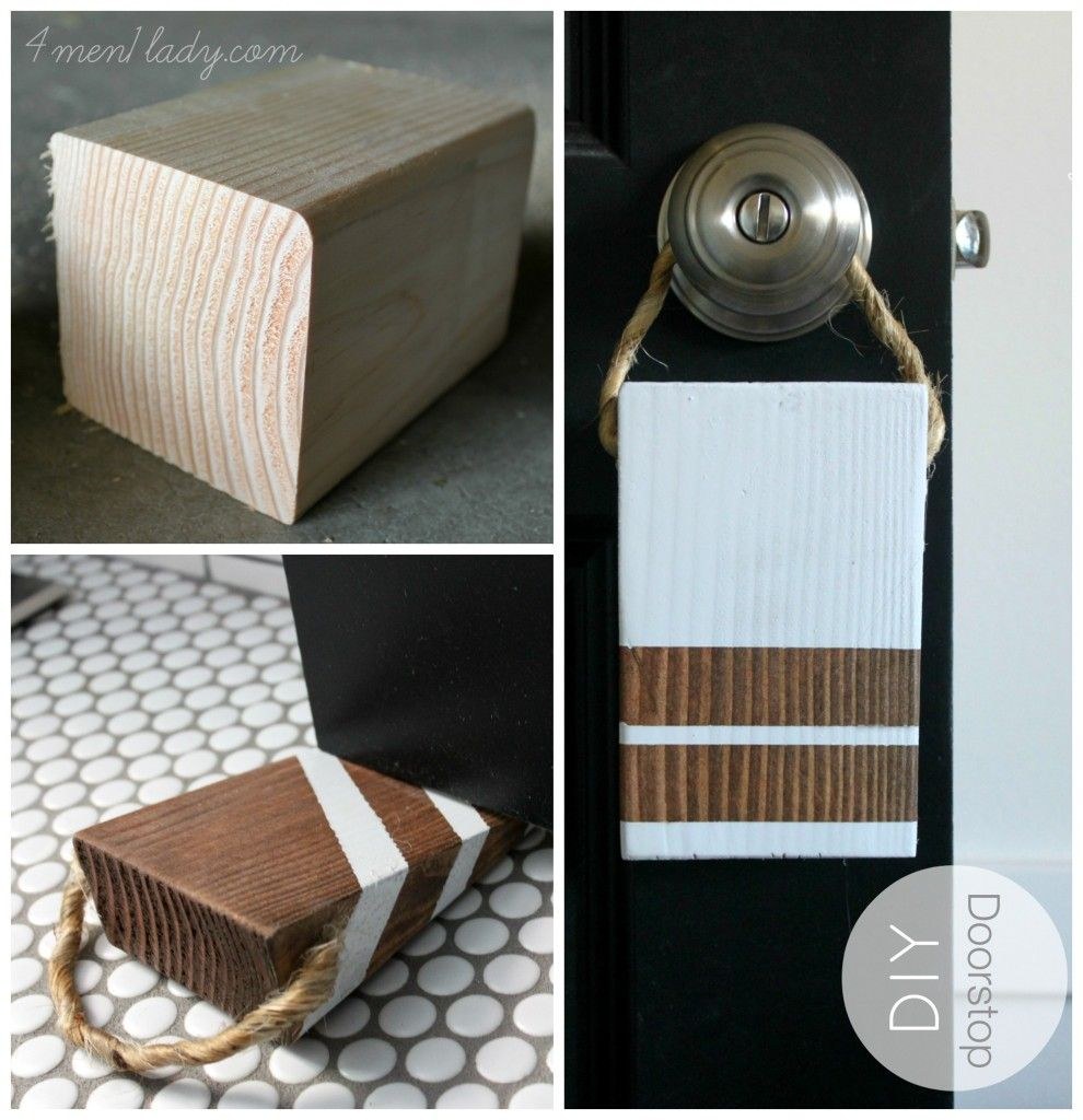 Diy Projects For Men Diy Door Stop 4 Men 1 Lady Diy Home Improvement Bloggers Best