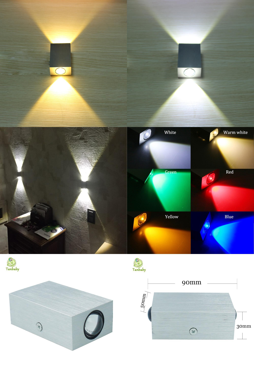 Visit To Buy Tanbaby 2w Led Wall Lamp Square Led Spot Light Aluminm Modern Home Decoration Light For Bedroom Dinning Room Re Led Wall Lamp Led Spotlight Lamp