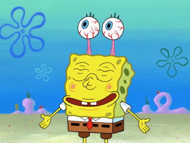 """"""" I call this one the gary, meow,"""" Funny spongebob faces"""