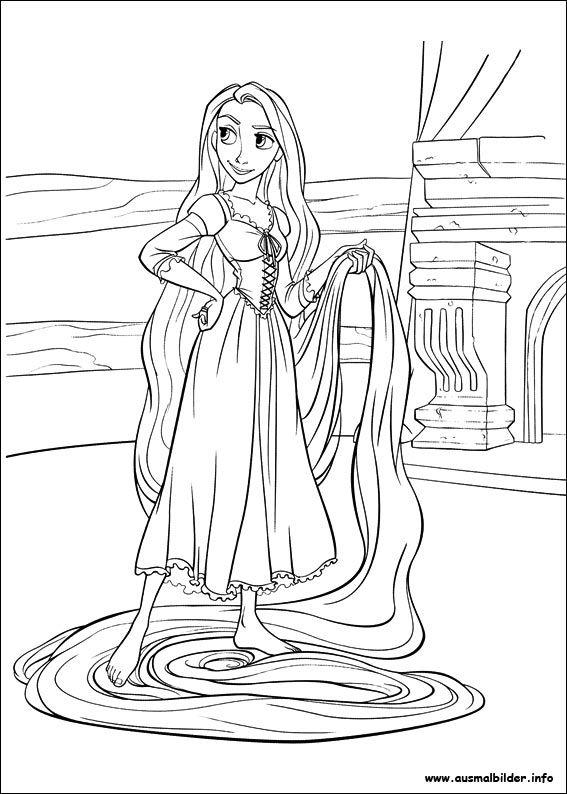 Rapunzel malvorlagen | Ausmalbilder | Pinterest | Rapunzel ...