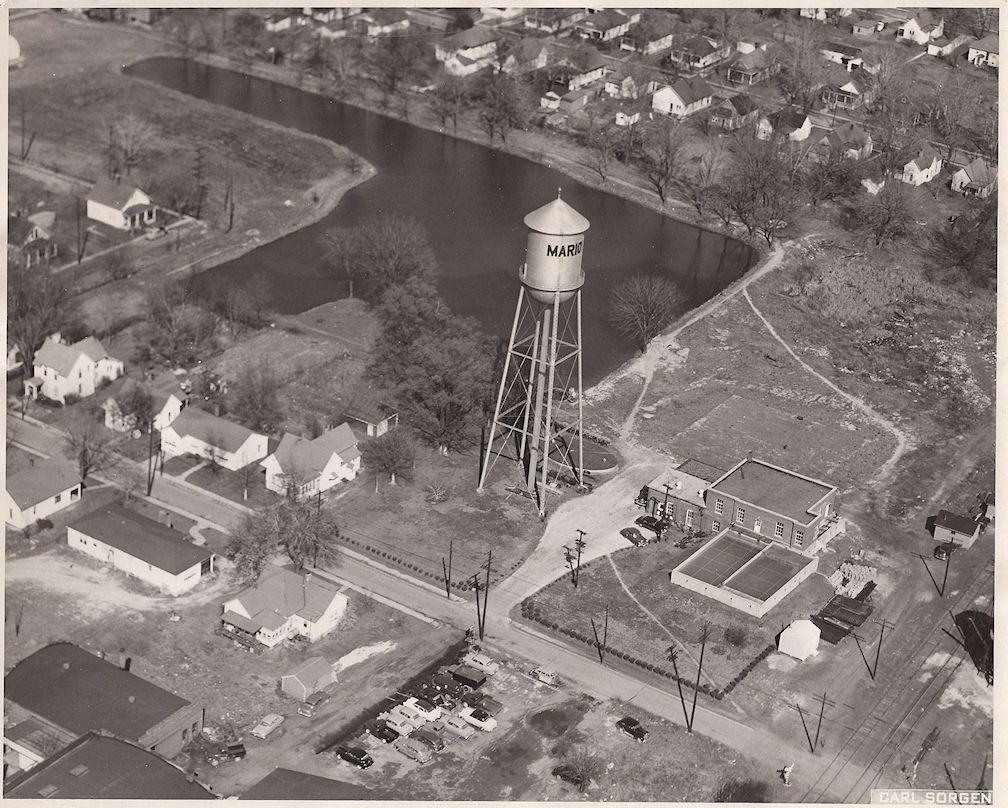 Marion Illinois History Aerial Views Marion Illinois History Preservation Aerial View Aerial Southern Illinois