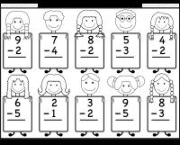 beginner subtraction 10 kindergarten subtraction worksheets worksheet kindergarten. Black Bedroom Furniture Sets. Home Design Ideas