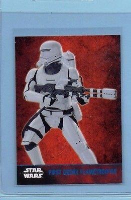 Star Wars Force Awakens First Order FlameTrooper Trading Card Blue Foil SP