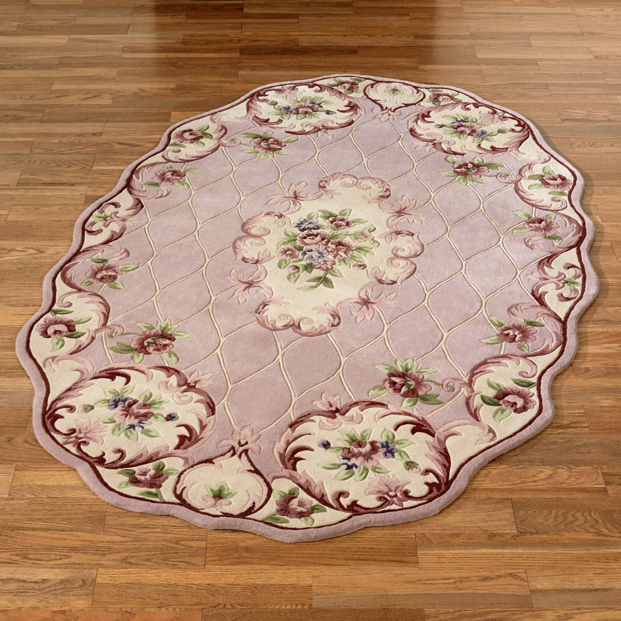 Marquis aubusson floral scalloped area rugs area rugs