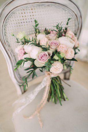 Свадебный букет в пастельных тонах новые фото