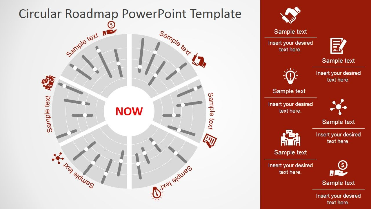 circular roadmap powerpoint template timeline planning