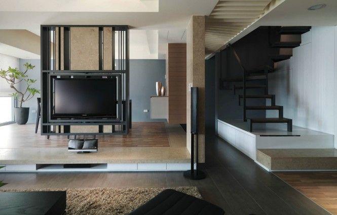 Modern Semi Minimilist Design Small Modern Living Room Contemporary Interior Design Living Room Partition
