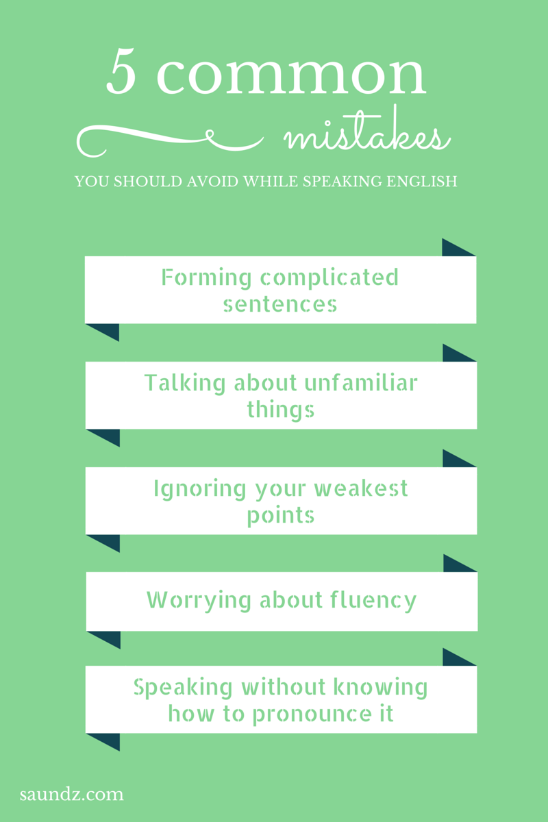 9 common mistakes you should avoid while speaking English  How to