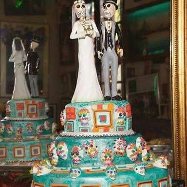 Pastel boda dia de muertos