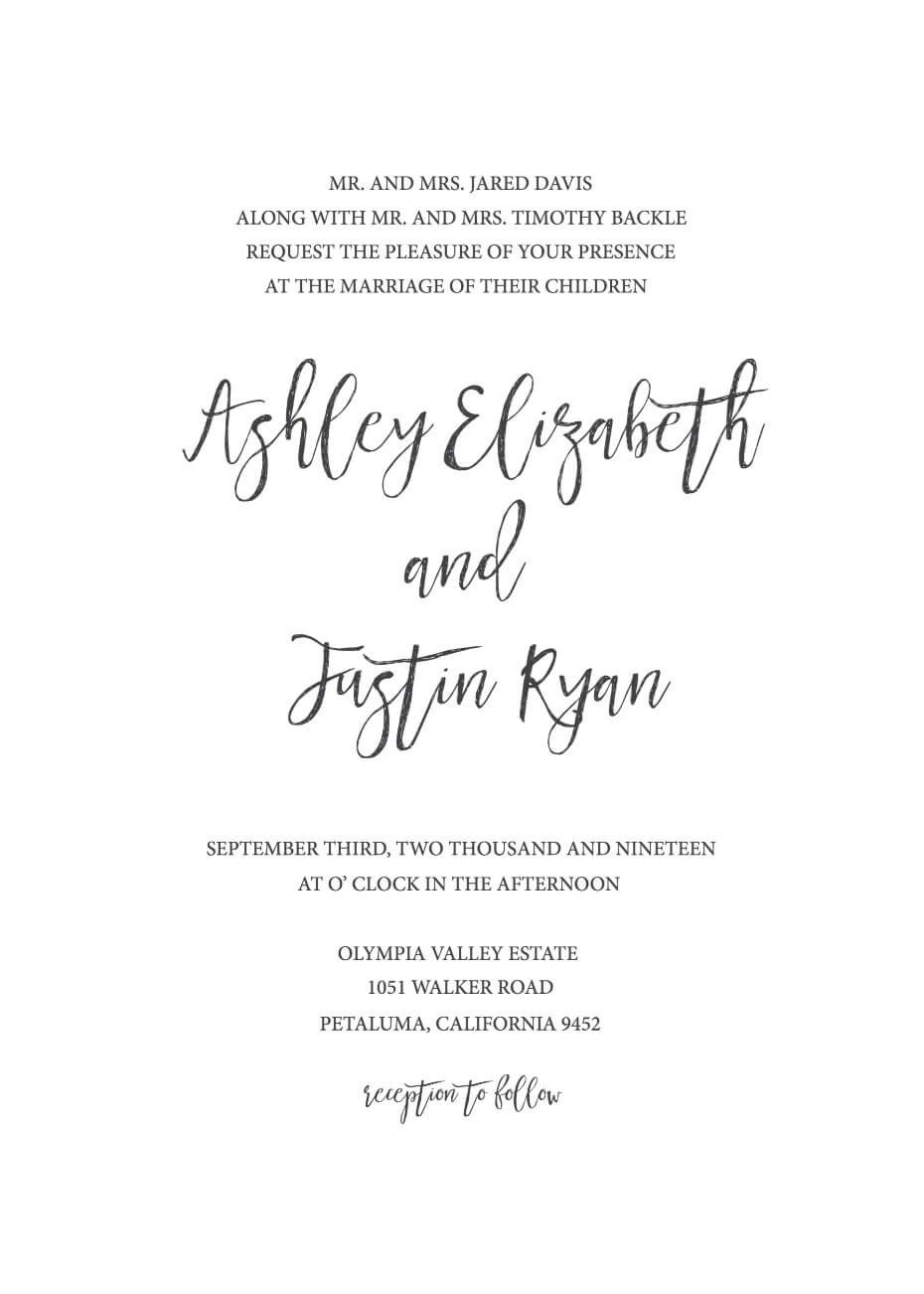 Wedding Invitation Generator Simple Wedding Invitations