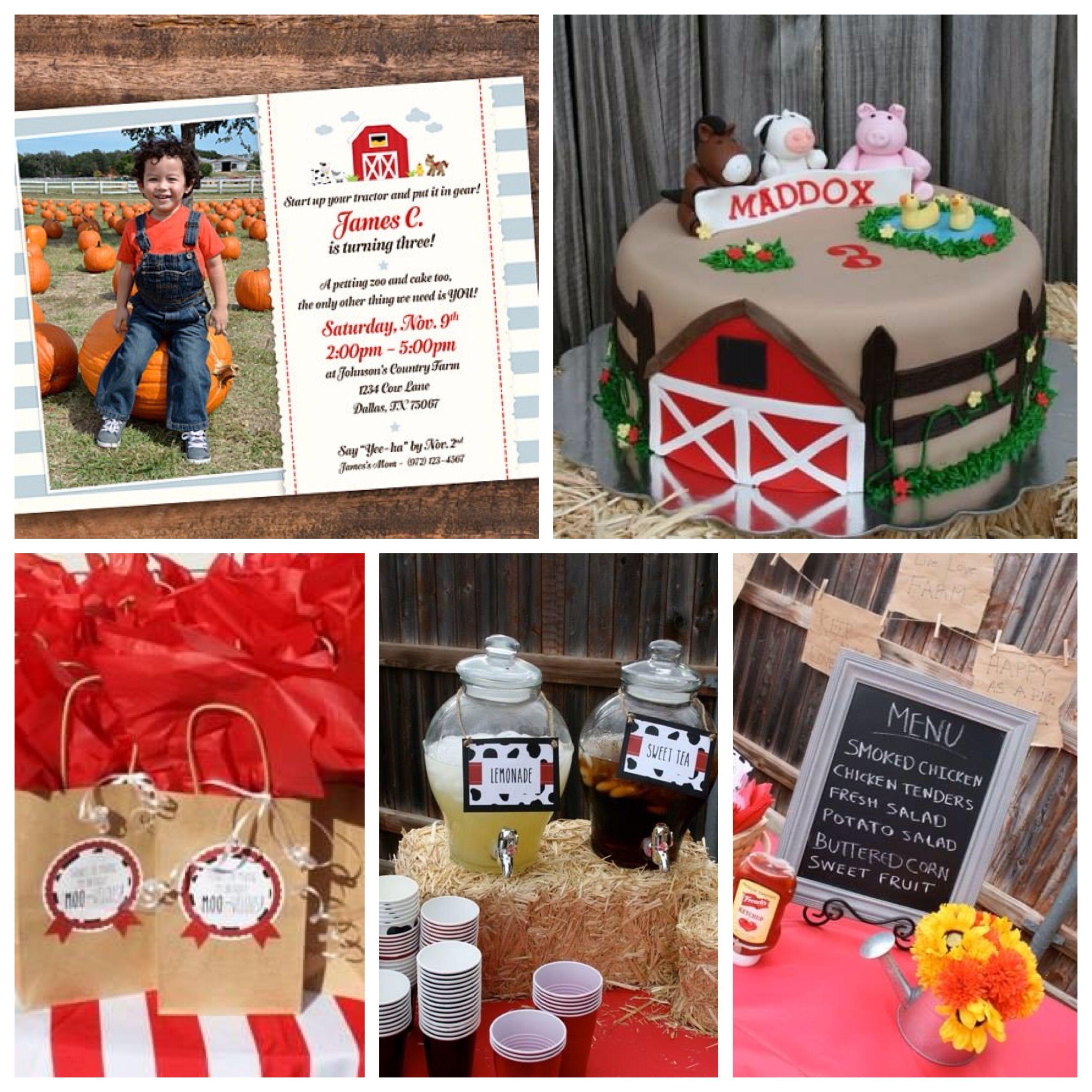 Farm Barnyard Birthday party https://www.etsy.com/listing/168291409 ...
