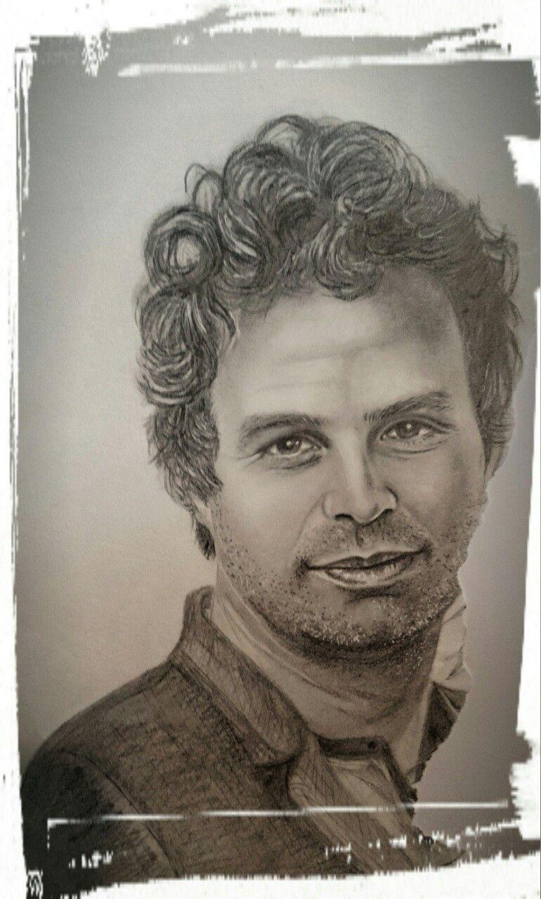 Mark ruffalo ,pencil ,drawing