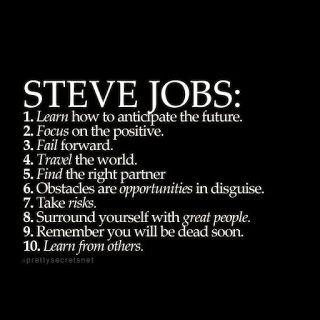 Moving Forward Future Focus Job quotes, Steve jobs