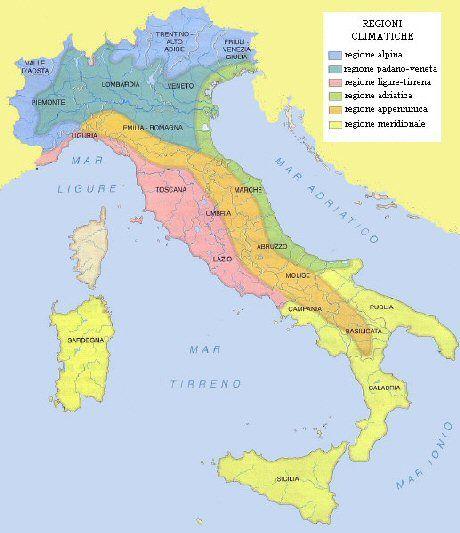 Cartina Dellitalia Con Zone Climatiche.Risultati Immagini Per Fasce Climatiche Attivita Formative