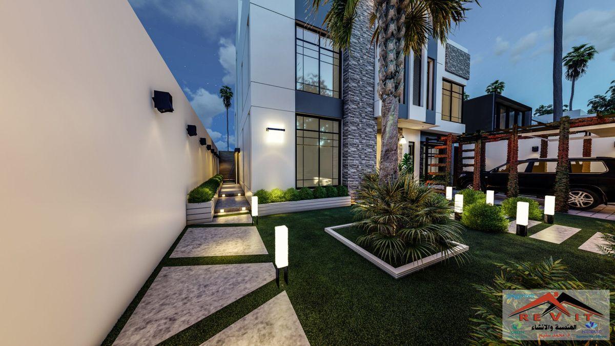 تصميم واجهة فيلا مودرن في مكه House Styles Mansions Home Decor