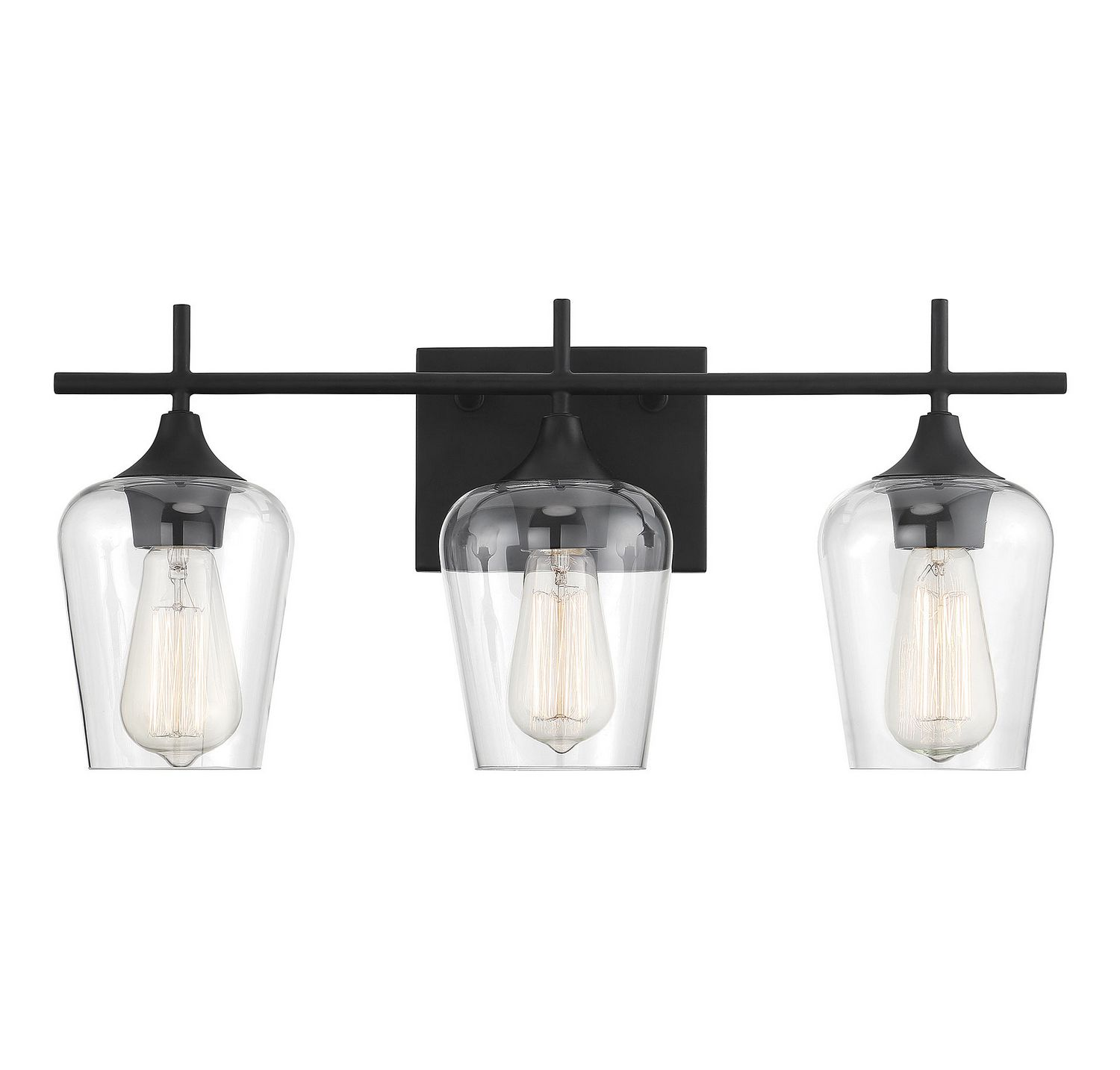 This sleek black vanity fixture is a great addition to a ...