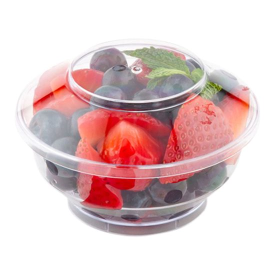 Deli Cup And Lid Medium Clear 4 Ounce 100 Count Box Disposable Bowls Packaged Snacks Deli
