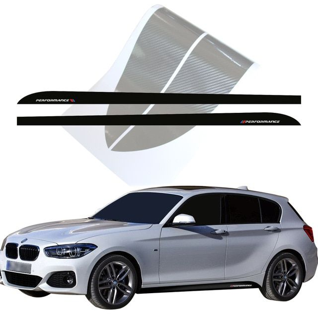 Side Stripes Skirt Stickers Decal New Style M Performance M Sport