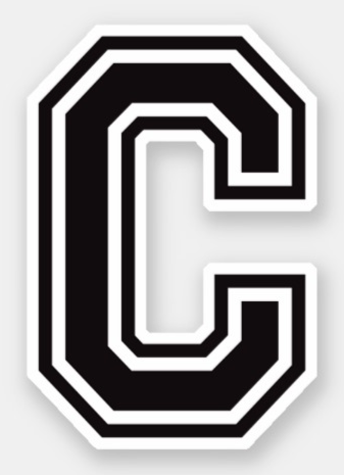 letter c sporty college font alphabet sticker zazzle