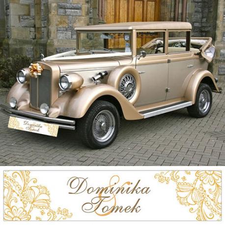 Tablica Rej Personalizowana Zlota Elegancja Antique Cars