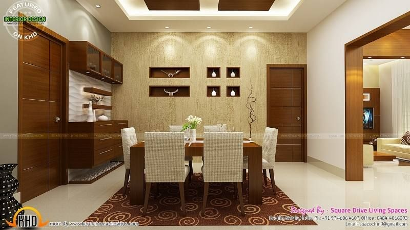 Kitchen Ideas In Kerala Interior Design Dining Room Home Design Floor Plans House Design Dining room interior design kerala