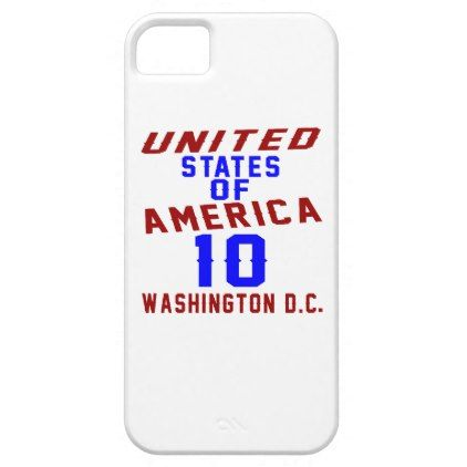 #United States Of America 10 Washington D.C. iPhone SE/5/5s Case - #giftidea #gift #present #idea #10th #tenth #bday #birthday #10thbirthday #party #teen
