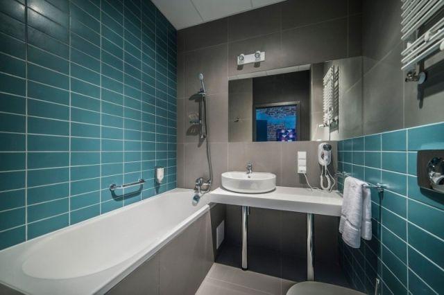 Ameublement salle de bain - 87 salles de bain exclusives Bathroom - salle de bain bleu gris
