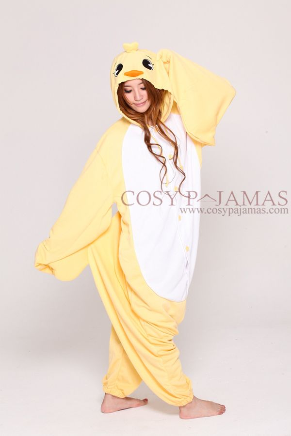 f441c7eb5 Animal Costume Yellow Chick Adult Onesie Kigurumi