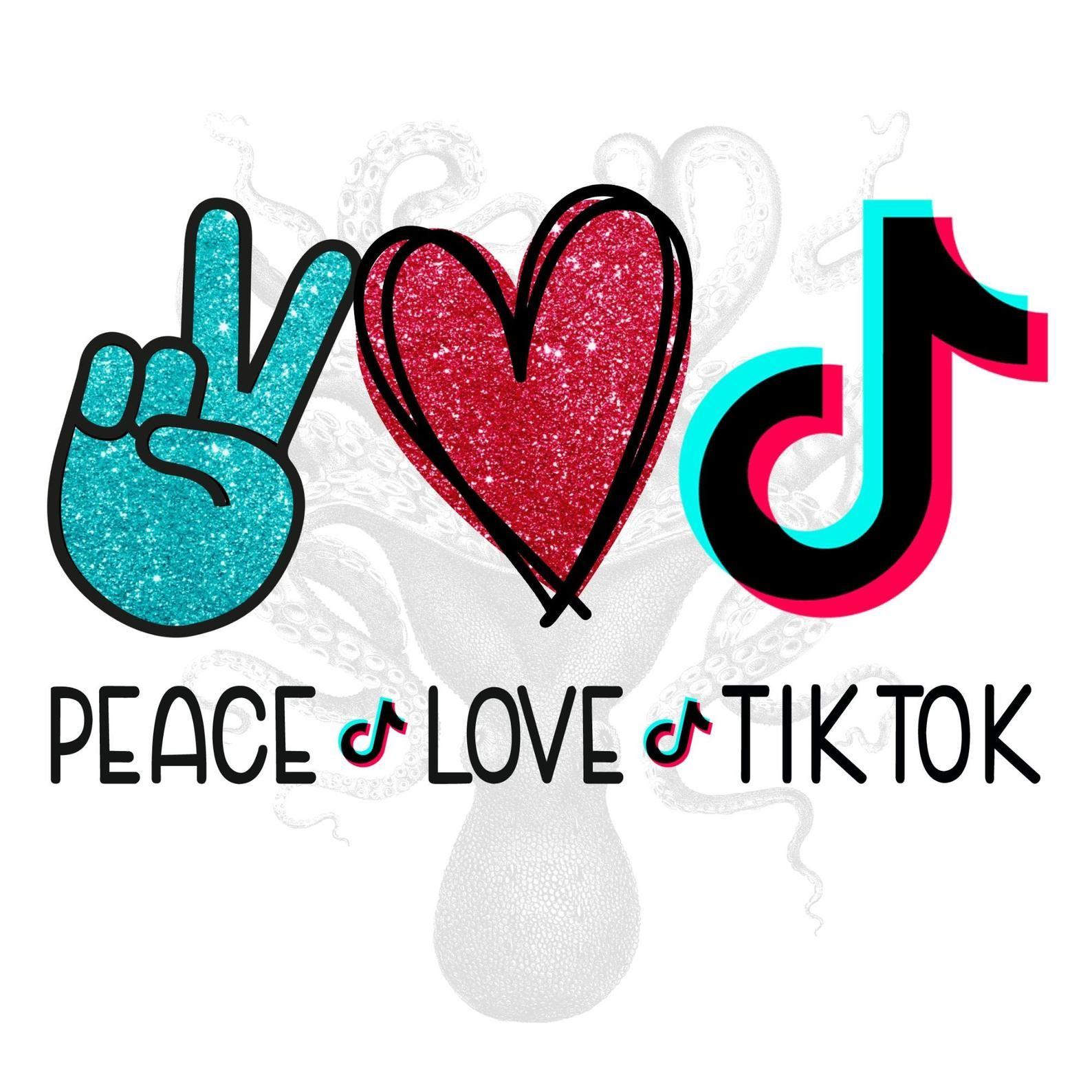 Peace Love Tiktok Png Peace Love Tiktok Digital Download Etsy Peace And Love Snapchat Logo Pink Wallpaper Cartoon