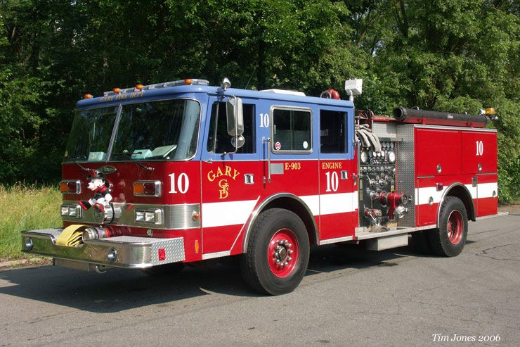 Gary Fire Dept Engine 10 1990 Pierce Arrow Pumper Fire Trucks