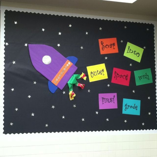 Classroom Door Decoration Spring ~ Best rocket bulletin boards ideas on pinterest space