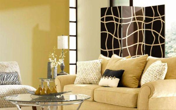 Wohnzimmer Schön Streichen Goldene Farbe   Wohnzimmer Streichen U2013 106  Inspirierende Ideen
