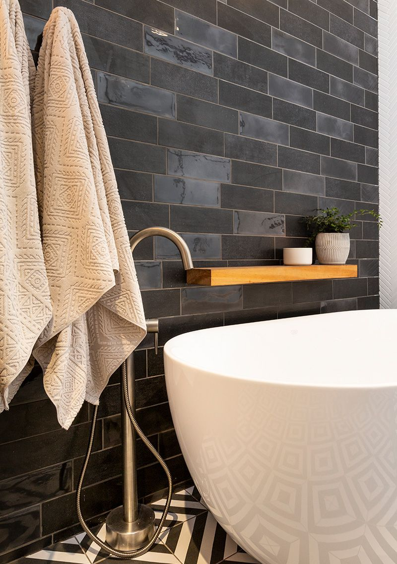 Diesel Camp A New Take On The Classic Subway This 100x300 Red Body Wall Tile Is Available In 4 Colours White Grey Blu Rooms Reveal Inside Home The Block Nz