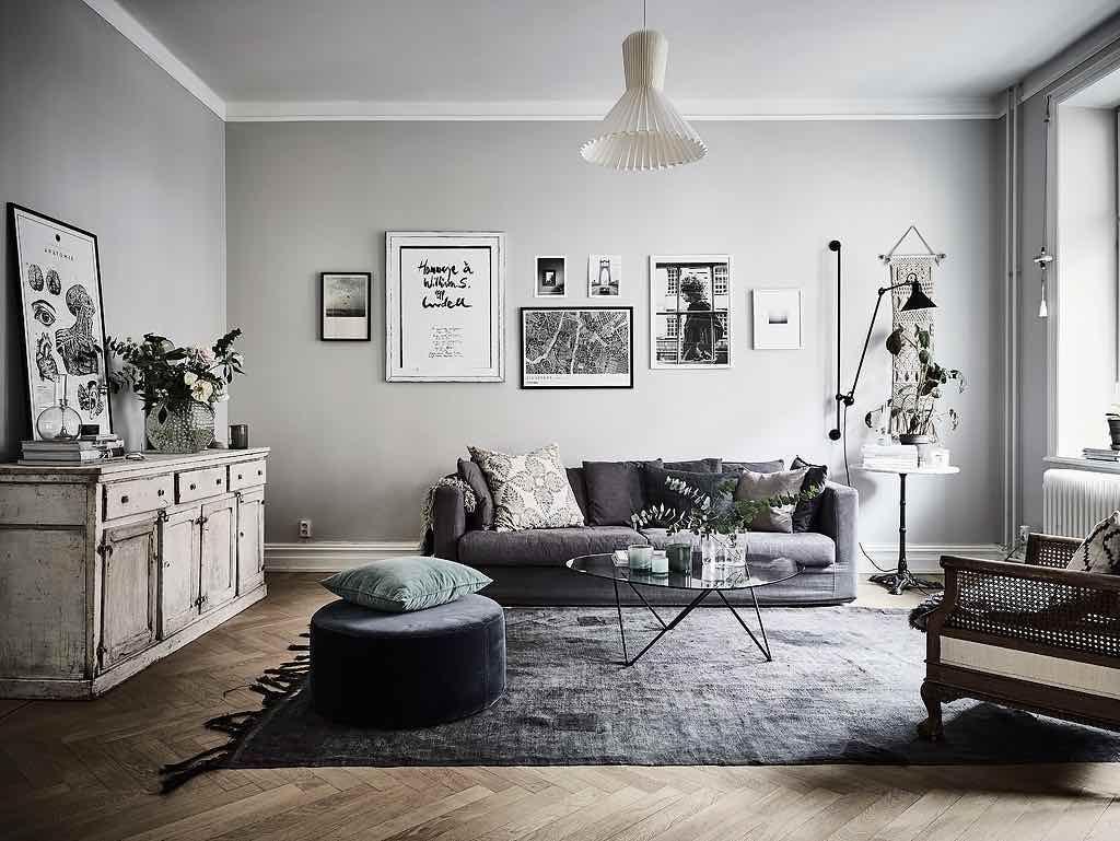 Wohnzimmer Mit Retro Mbeln Und Sanften Farbtnen