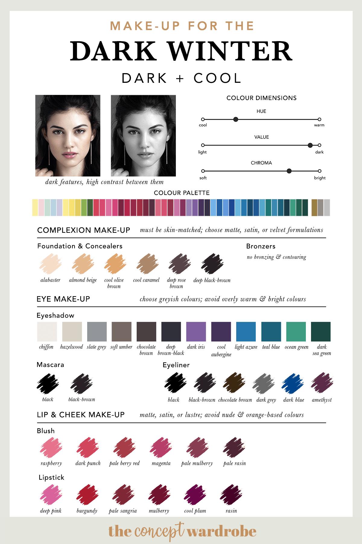 The Dark Winter Make-up Palette | the concept wardrobe
