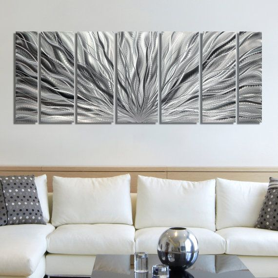 Huge Saving Originally Listed At 225 This Elegant All Silver Wall Sculpture Is Being Offered At 115 P Outdoor Wall Decor Metal Wall Decor White Wall Decor #silver #wall #decor #for #living #room