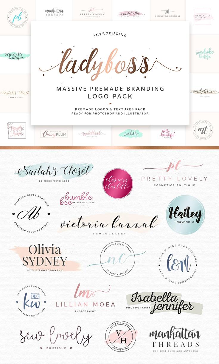 Ladyboss Premade Branding Logos Premade branding, Logo