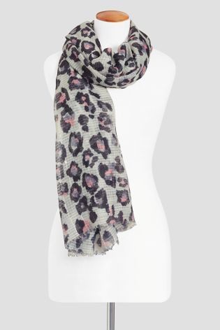 Buy Neutral Waffle Sequin Animal Scarf from the Next UK online shop