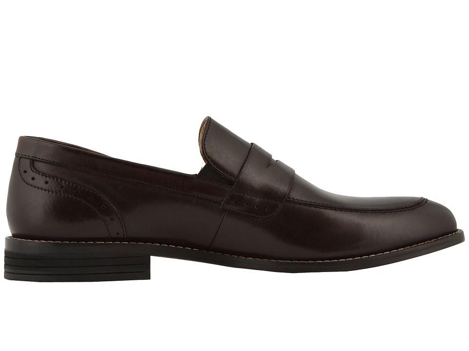63e3c65ace2 Nunn Bush Strata Moc Toe Dress Casual Penny Loafer Dress Men s Slip-on  Dress Shoes Brown