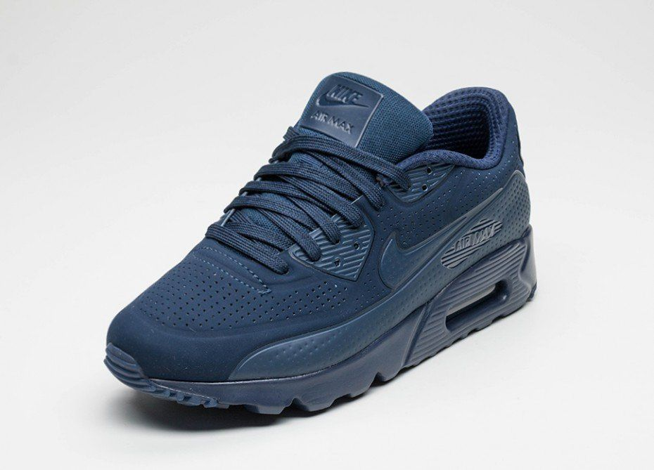 Nike Air Max 90 Ultra Moire (Midnight Navy / Midnight Navy - White)