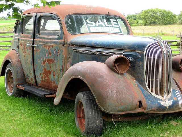old rusty car for sale by spikekid via flickr old potential pinterest rusty cars. Black Bedroom Furniture Sets. Home Design Ideas